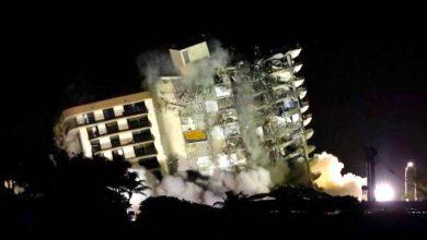 Photo of Derriban el resto del edificio de Miami